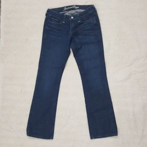American Eagle Dark Wash True Boot Jeans SZ 4